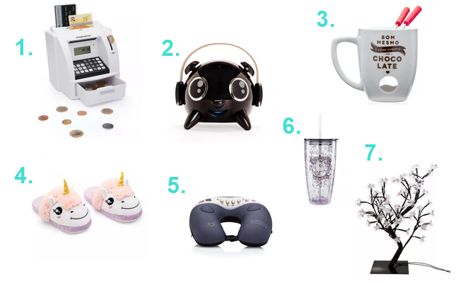favoritos-imaginarium-cofre-caixa-de-som-arvore-decorativa-almofada-massageadora-pantufa-de-unicornio
