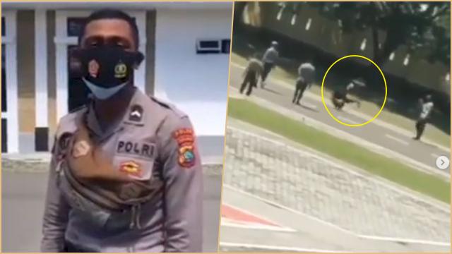 Viral Oknum Polisi Rendahkan 'Pasukan Kuning', Langsung Dihukum Guling-guling