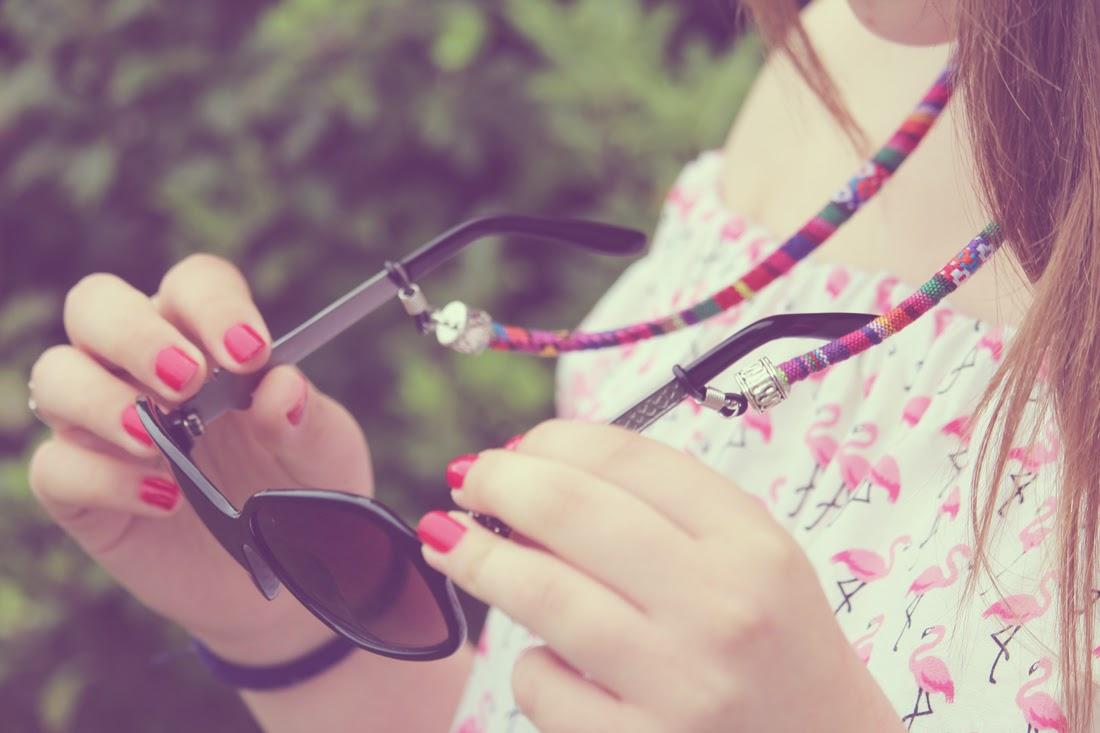 Tutorial cordón étnico para gafas Resultado