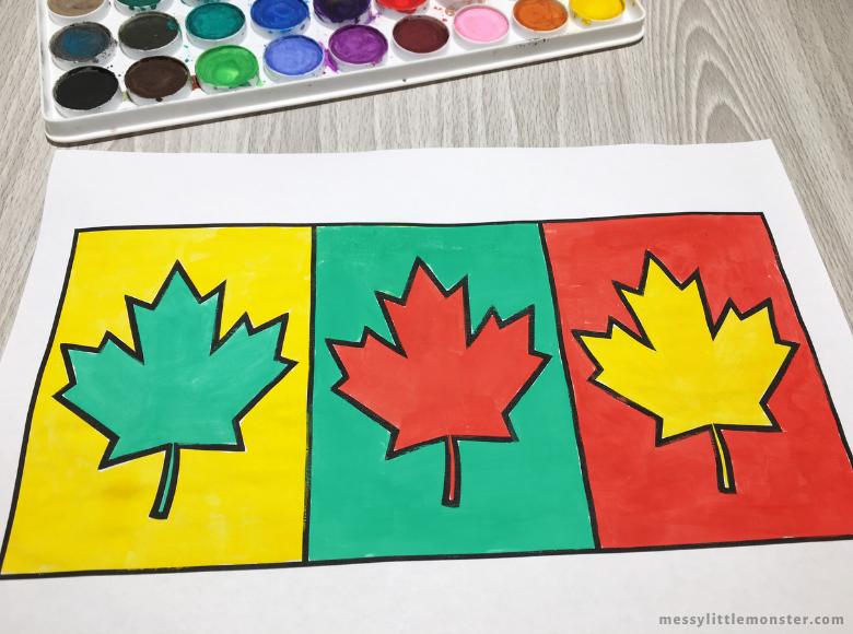 leaf pop art for kids