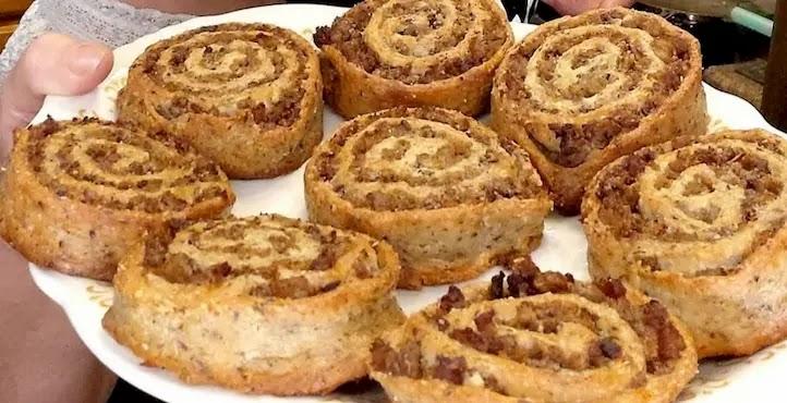 Keto Sausage Pinwheels
