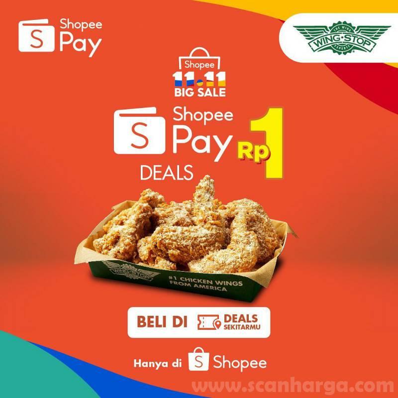 Wingstop Promo Voucher ShopeePay cuma Rp. 1,-