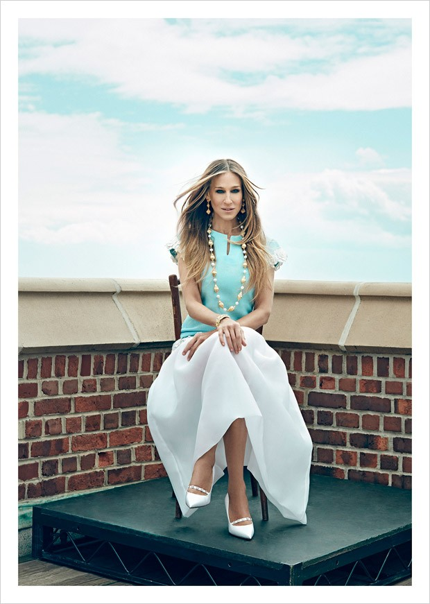 Sarah Jessica Parker wears high fashion designs for anaZahra Magazine
