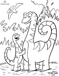 Happy Dinosaur Coloring Pages