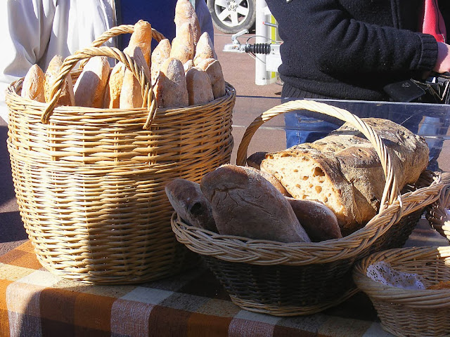 Bread for sale at a village market, Indre et Loire. France. Photo by Loire Valley Time Travel.