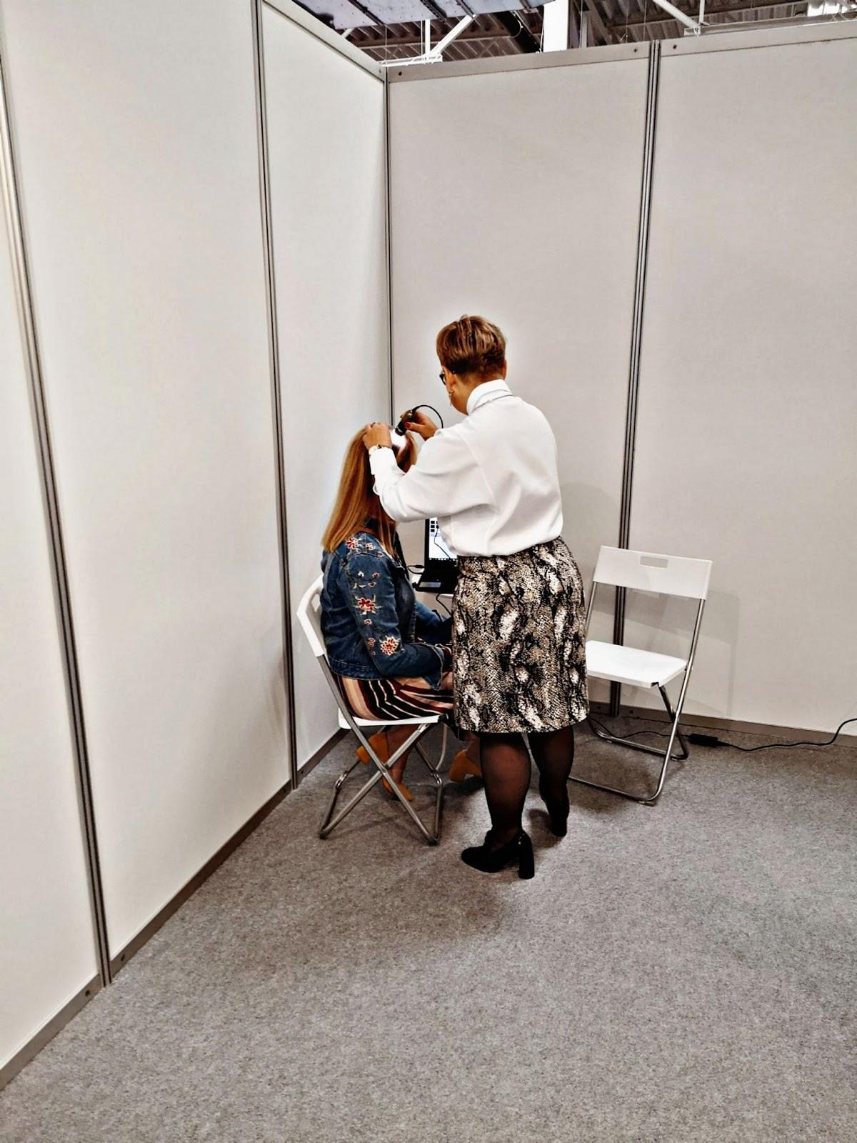 Badanie trychologiczne targi Beauty Days