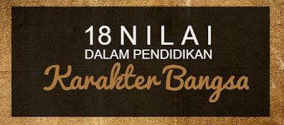 18 Nilai Pembentuk Karakter Bangsa Indonesia