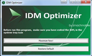 cara mempercepat downlaod idm dengan idm optimizer