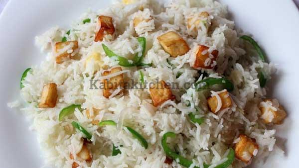 Paneer Fried Rice recipe - Kabita Kitchen