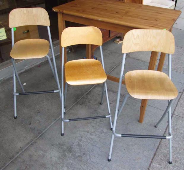 Uhuru Furniture & Collectibles Sold Set Of 3 Ikea Folding