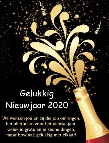 Gelukkig Nieuwjaar 2020 gratis nieuwjaarskaarten downloaden
