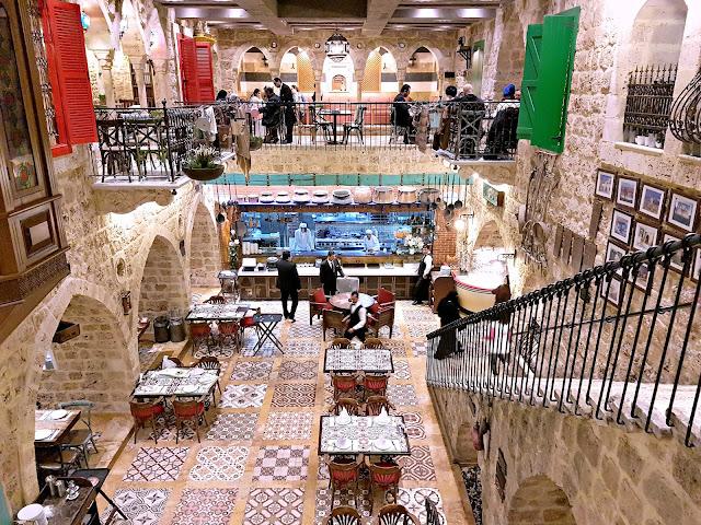 The interiors of the Assaha Lebanese Restaurant, Kuwait