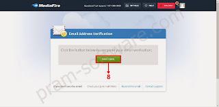 Verifikasi Email di MediaFire