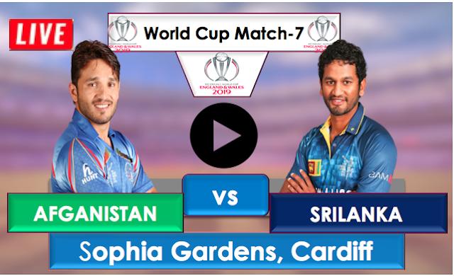 Afghanistan vs Sri Lanka, Live Streaming Online, Match 7 World Cup 2019