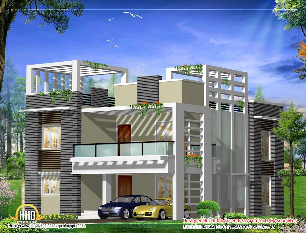 Floor home design kerala plans modern house designs ideas for Modern house ark