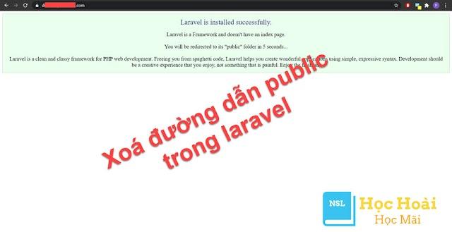 Hướng dẫn xoá đường dẫn public tại URL khi sử dụng Laravel
