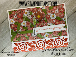 Jennifer shows how to make this Stampin' Up! Ornate Garden Suite card using Stampn' Blends in the video.  Click the photo to go to the blog and see the video. #stampinup #StampTherapist