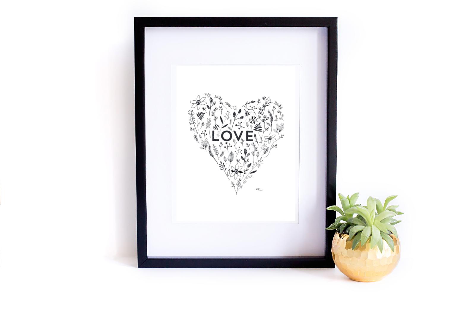 miłosne plakaty do druku