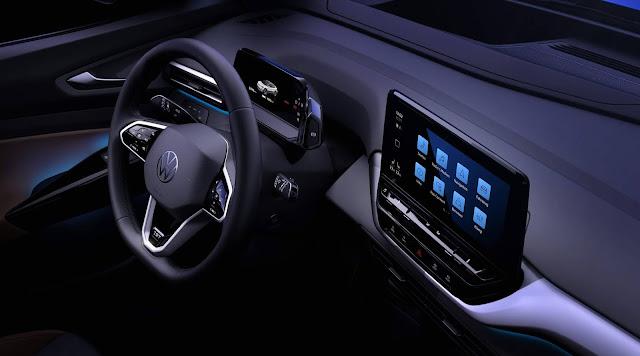Volkswagen ID4: SUV elétrico tem interior revelado - fotos