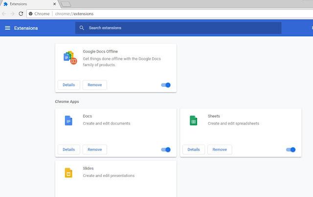 Memeriksa Ekstensi Pada Browser