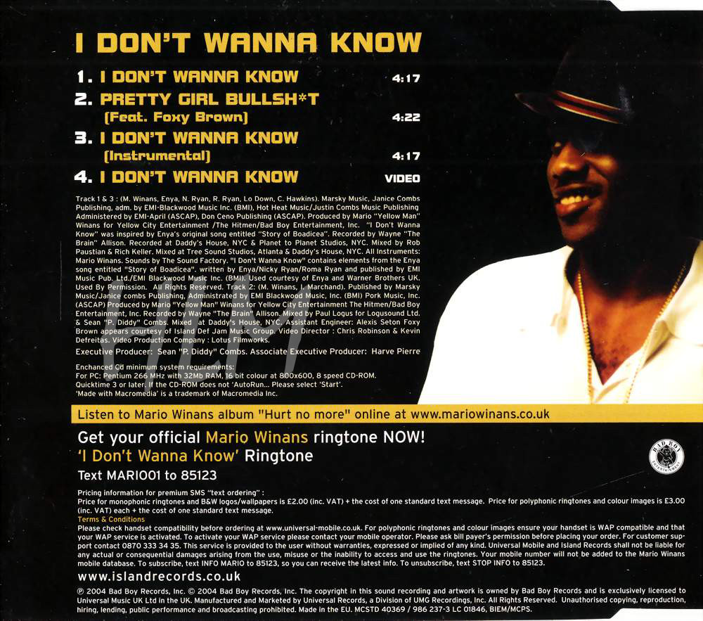 highest level of music: Mario Winans Feat  Enya & P  Diddy