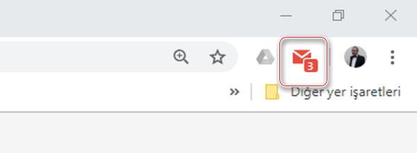 Yeni e-posta sayısını gösteren bir numara da simgenin üzerinde görünecektir.