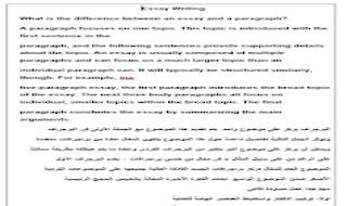 كيف يكتب الباراجراف من البداية الى الاحتراف - حل سؤال البراجراف - اجابة البرجراف من موقع درس انجليزي