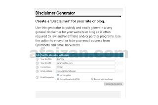 Cara Membuat Halaman Disclaimer Secara Otomatis