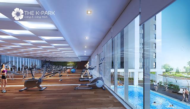 Phòng tập Gym & Yoga được đặt ở tầng 2