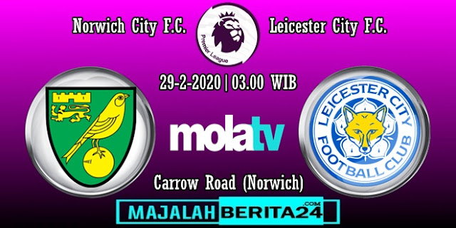 Prediksi Norwich City vs Leicester City