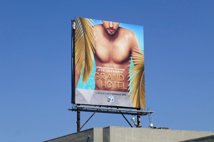 Grand Hotel series launch billboard