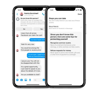 ميزة جديدة لـ Messenger لتحذير المستخدمين من عمليات الاحتيال
