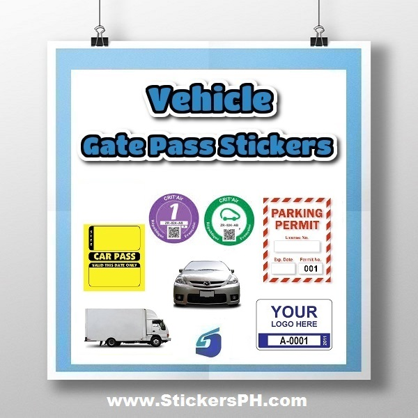 Vehicle Gate Pass Stickers, Car Parking Permit Stickers
