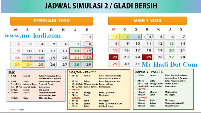 Update Jadwal Simulasi 2 Gladi Bersih UNBK  SMP/Mts/SMA/SMK Tahun 2020 img