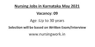 Nursing Jobs in Karnataka May 2021