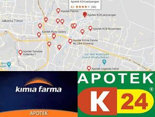 apotek K-24 Bekasi terdekat