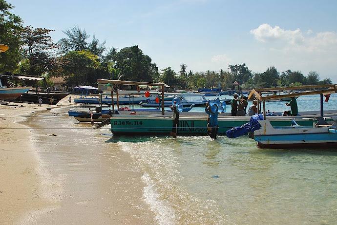Barcas en un puerto