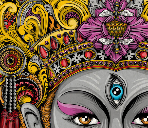 "Gallery Inspirasi Vector Art ""Balinese Mask Set"