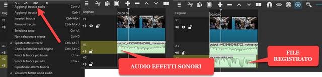 aggiunta della voce doppiata al video depurato dalla voce originale