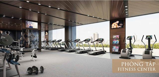 Phòng tập Gym với những trang thiết bị hiện đại