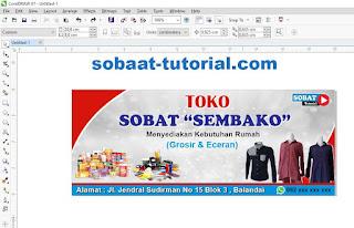 Cara Membuat Desain Spanduk Toko Sembako