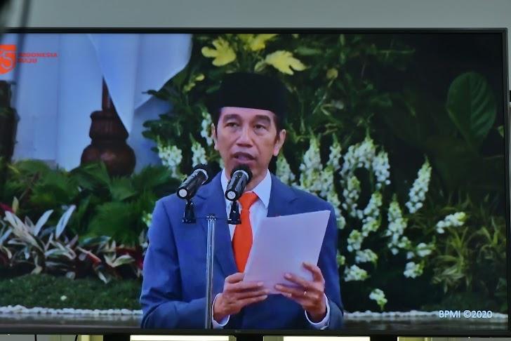Presiden Jokowi, Sampaikan Apresiasi Kinerja Polri di HUT Bhayangkara Ke-74 Tahun