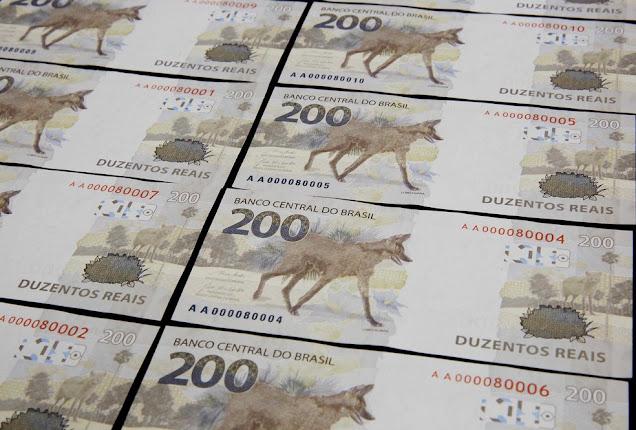 Imagem Nova Nota 200 reais com Lobo Guará