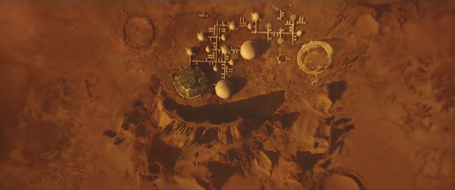 The Space Between Us Mars movie image - colony