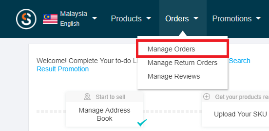 Lazada seller manage orders