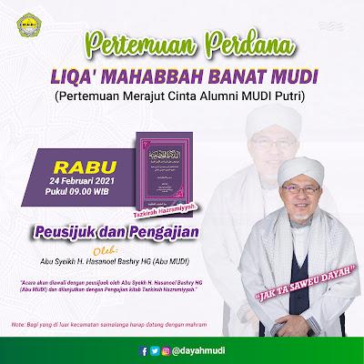 Perdana, Liqa' Mahabbah Banat MUDI Digagas