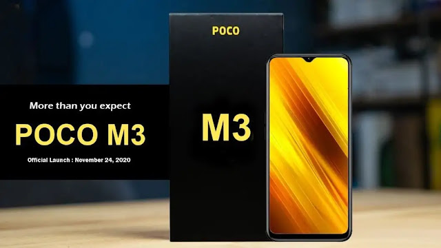 الكشف عن تسريبات هاتف بوكو ام 3 – Poco M3