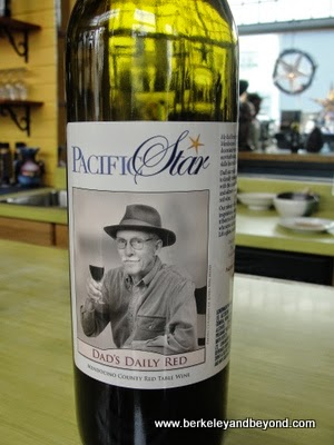 Dad's Daily Red wine at Pacific Star Tasting Room in Fort Bragg, California