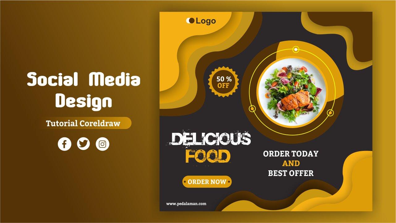 Membuat desain promosi makanan