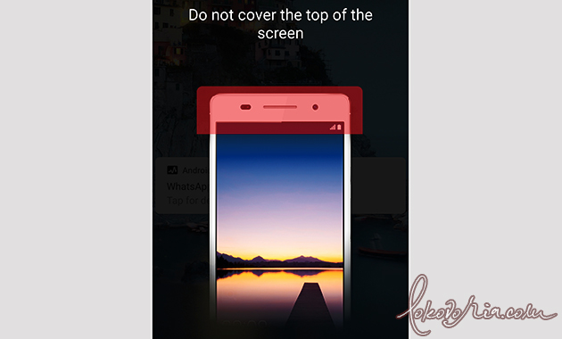 How to Disable Do not cover the top of your phone on Huawei